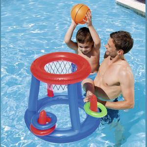 Aro De Basket Inflable Y Pelota Pileta 61cm Bestway 52190
