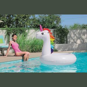 Unicornio Inflable Grande Pileta 136x131 Bestway 36123