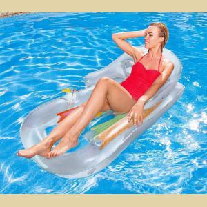 Colchoneta Sillon Transparente Inflable Pileta Bestway 43028