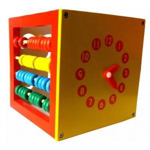 Cubo Didáctico Reloj Abaco Pensamiento Logico 5 En 1