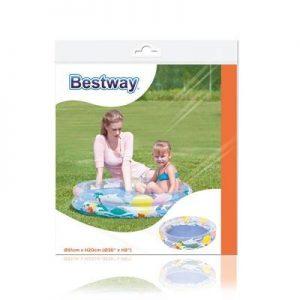 Pileta Inflable Bebe Infantil 2 Aros 91x20 Cm Bestway 51012