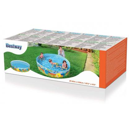 Pileta Bebe Niños Monsters 182 X 38cm Bestway 55022