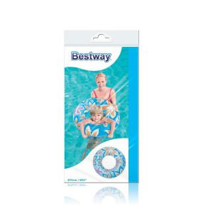 Salvavidas Inflable Fashion Floreado Pileta Bestway 36057